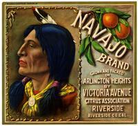 Navajo Brand oranges, Victoria Avenue Citrus Association, Riverside
