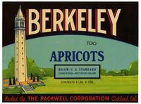 Berkeley apricots, Packwell Corporation, Oakland