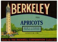 Berkeley apricots, Packwell Corporation, Oakland