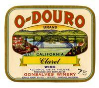 O-Douro Brand California Claret wine, Gonsalves Winery, Martinez