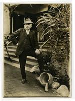 Reginaldo F. del Valle posing with mortar and pestle