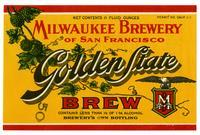 Golden State brew, Milwaukee Brewery of San Francisco