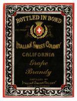 Italian Swiss Colony California grape brandy, Italian Swiss Colony, Asti