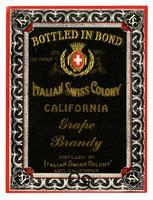 Italian Swiss Colony California grape brandy, Italian Swiss Colony, Asti