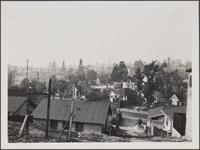 View from Bunker Hill Avenue toward northwest; oldest oil derricks, Mexican neighborhood