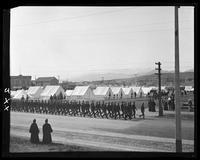 Troops marching at Camp Merritt, San Francisco