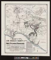 Map of a portion of Los Angeles County showing the Abel Stearns' Ranchos