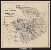 Map of Eden Township, Alameda County, California, 1915
