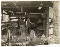 Northwestern Pacific R.R. Extension, Blacksmith Shopp at. Martin's Camp.