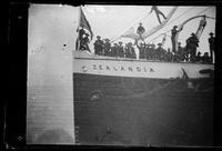 Second Philippine expedition departing to Manila aboard S.S. Zealandia, San Francisco Bay
