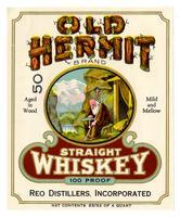 Old Hermit Brand straight whiskey, Reo Distillers