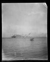 Steamship transporting troops to Philippines, San Francisco Bay