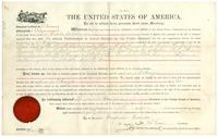 Homestead certificate no. 872, granted to Juana C. Araiza