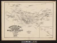 Official map of Bodie Mining District