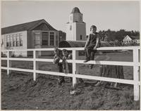 David Lane, John Ham and Alfred Sire, grammar school, Mendocino, Mendocino County, California