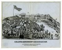 Grand admission celebration. Portsmouth Square, Octr. 29th 1850.