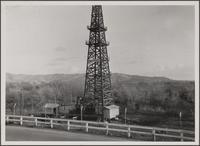 Oil rig along roadside