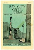Menu, Bay City Grill, San Francisco