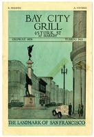 Menu, Bay City Grill, San Francisco