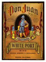Don Juan white port, K. Arakelian, Inc., Madera Wineries & Distilleries, Madera
