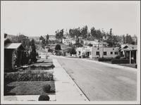 Looking west on Corliss Street from west of Eagle Rock Boulevard