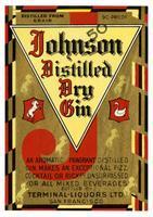 Johnson distilled dry gin, Terminal-Liquors, San Francisco