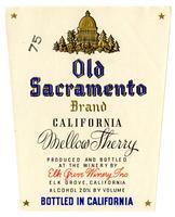 Old Sacramento Brand California mellow sherry, Elk Grove Winery, Elk Grove