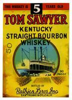 Tom Sawyer Kentucky straight bourbon whiskey, Rathjen Bros., San Francisco
