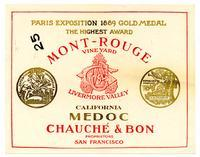 California Medoc, Mont-Rouge Vineyard, Livermore Valley