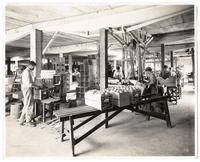 Workers in an orange packing house, Los Angeles, California