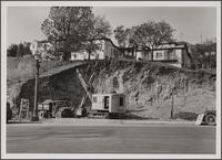 Steam shovel, Sunset Bouvelard, north side, west of La Cienega Boulevard, West Hollywood