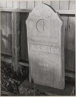 Headstone of Louis Morand, an early settler of Caspar, Mendocino County, California
