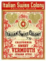 Italian Swiss Colony California sweet vermouth, Italian Swiss Colony, Asti