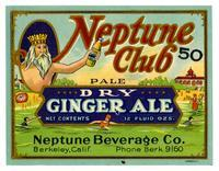 Neptune Club pale dry ginger ale, Neptune Beverage Co., Berkeley