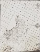 [Section of] Map of the city of Los Angeles showing the confirmed limits surveyed in August 1857 by Henry Hancock