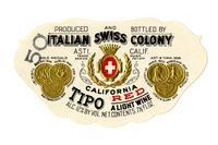 Tipo California red, Italian Swiss Colony, Asti