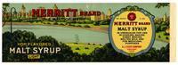 Merritt Brand hop flavored malt syrup, A. J. Fleuti Company, Oakland