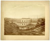 Progress of construction, U.S. Mint [two-story], N.W. corner of 5th & Mission, San Francisco