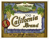 California Brand, Elk Grove Winery, Elk Grove