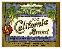 California Brand, Elk Grove Winery, Elk Grove