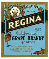Regina California grape brandy, Ellena Brothers, Etiwanda