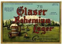 Glaser Bohemian lager, Glaser Beverages, Inc., Seattle