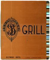 Menu, Biltmore Hotel Grill, Los Angeles