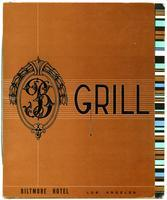 Menu, Biltmore Hotel Grill, Los Angeles