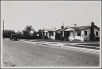 Bungalows on north side of 54th Street, Maywood, looking from southeast, west of Loma Vista Avenue