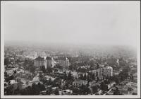 Hilltop view of Hollywood from southeast; apartment houses on Crescent Heights Boulevard
