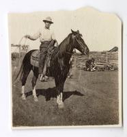Cowboy at the Santa Rita Rancho, California