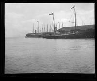 Troopships docked in San Francisco Bay