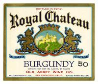 Royal Chateau Burgundy, Old Abbey Wine Co., San Francisco