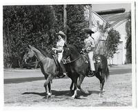 Princess Linda Suda of Sacramento riding Taylor King and Queen of Show Patty Burner of Tulare riding Evil Keno
